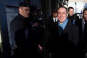 Deplacement du ministre de l'interieur Claude Gueant a Cavaillon dans le Vaucluse, visite d'une structure sociale de reinsertion