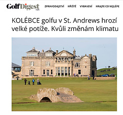 Golf Digest, Czech Republic; St Andrews Old Course