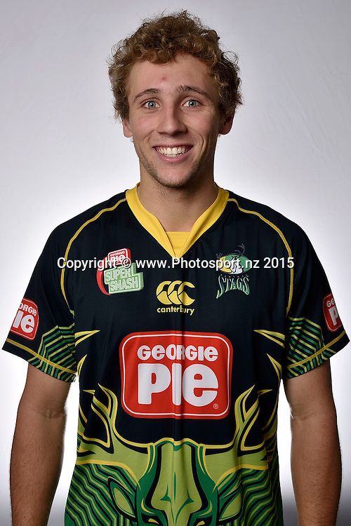 Headshot of Dane Cleaver of Central Districts Cricket at the Rugby Institute, in Palmerston North. 30 September 2015. Copyright Photo: Marty Melville / www.photosport.nz