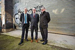 Pictured: Gavin Barrie, City of Edinburgh Council Education Convener, Kevin Stewart and COSLA President David O&rsquo;Neill  <br /> The latest recipients of the Regeneration Capital Grant Fund were announced today during a visit to Out of the Blue in Edinburgh by Local Government Minister Kevin Stewart. Out of the Blue, on Leith Walk, is an arts and education trust that provides affordable spaces and resources to the local community.  The Minister was accompanied by COSLA President David O&rsquo;Neill and Gavin Barrie, City of Edinburgh Council Education Convener, as he toured the premises that are set to be refurbished, helping Out of the Blue meet growing local demand.  The Regeneration Capital Grant Fund supports projects in disadvantaged areas that engage and involve local communities and is jointly funded by the Scottish Government and COSLA. <br /> <br /> <br /> Ger Harley | EEm 9 March 2017