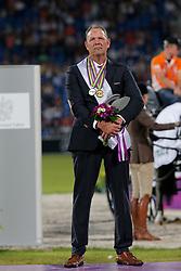 Chardon, Ijsbrand (NED), <br /> Aachen - Europameisterschaften 2015<br /> Fahren Siegerehrung und Auszeichnung Winter-Schulze<br /> © www.sportfotos-lafrentz.de/Stefan Lafrentz