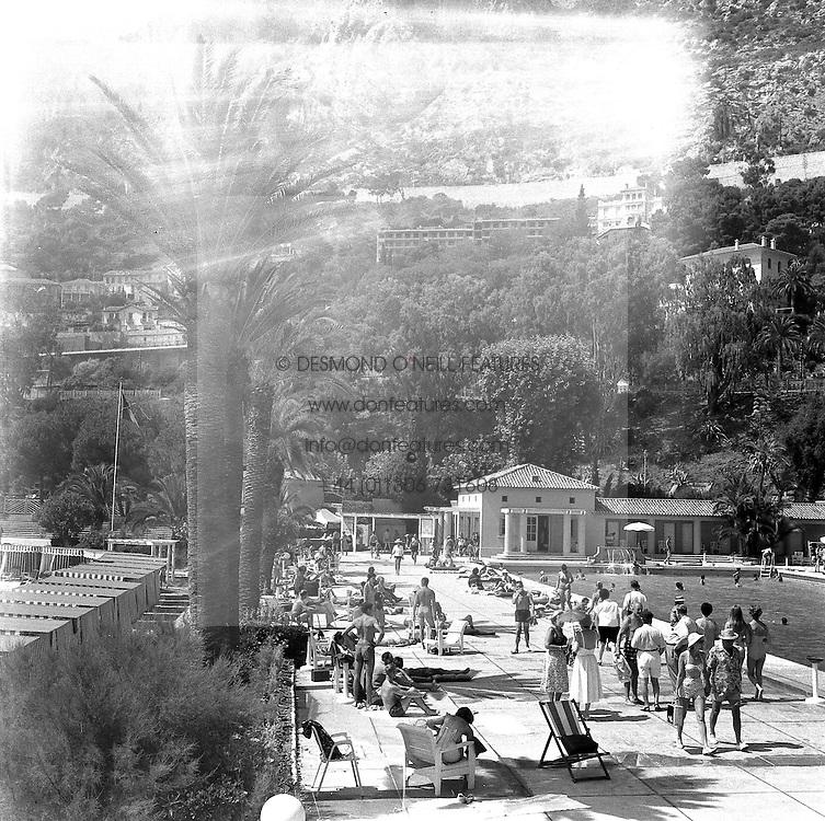 The Monte Carlo Beach Club, Monaco in August 1958.