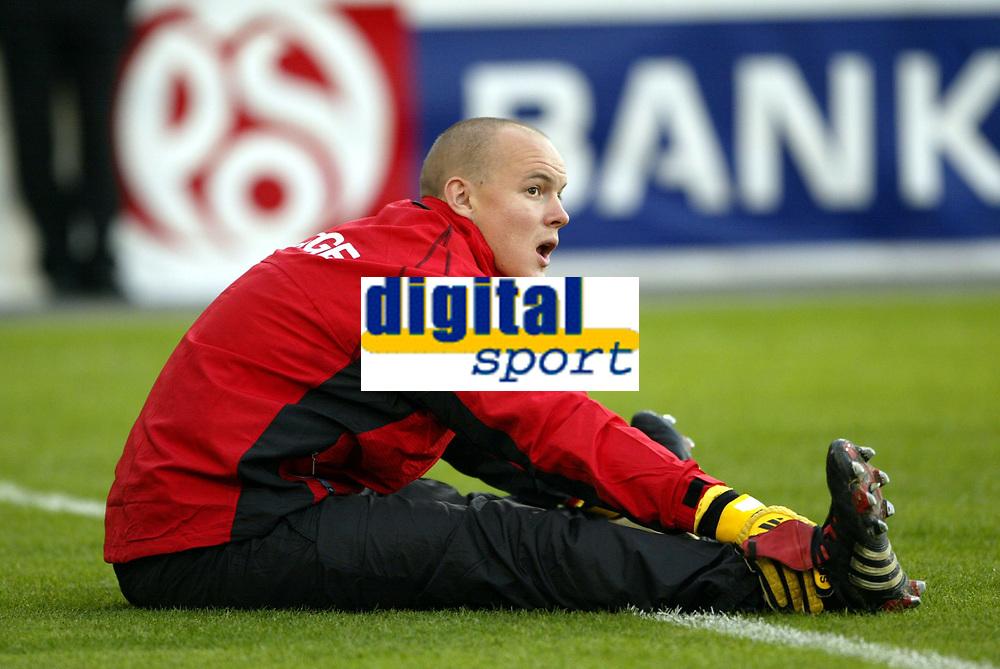 Fotball<br /> VM-kvalifisering<br /> Norge v Hviterussland<br /> Ullevaal stadion<br /> 8. september 2004<br /> Foto: Digitalsport<br /> Espen Johnsen, Norge