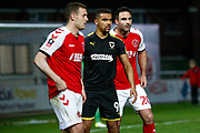 Wimbledon forward Kwesi Appiah (9)  during the The FA Cup 3rd round match between Fleetwood Town and AFC Wimbledon at the Highbury Stadium, Fleetwood, England on 5 January 2019.