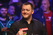 Mark Allen celebrates winning the Snooker Players Championship Final at EventCity, Manchester, United Kingdom on 27 March 2016. Photo by Pete Burns.
