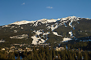 Whistler Village and Blackcomb Mountain; Whistler Blackcomb Ski Resort, British Columbia, Canada.
