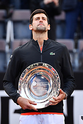 May 19, 2019 - Roma, Italia - Foto Alfredo Falcone - LaPresse.19/05/2019 Roma ( Italia).Sport Tennis.Rafael Nadal (esp) vs Novak Djokovic (srb).Internazionali BNL d'Italia 2019 .Nella foto:novak djokovic..Photo Alfredo Falcone - LaPresse.19/05/2019 Roma (Italy).Sport Tennis.Rafael Nadal (esp) vs Novak Djokovic (srb).Internazionali BNL d'Italia 2019.In the pic:novak djokovic (Credit Image: © Alfredo Falcone/Lapresse via ZUMA Press)