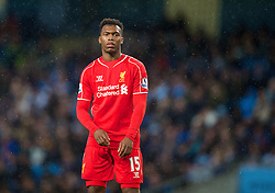 MANCHESTER, ENGLAND - Monday, August 25, 2014: Liverpool's Daniel Sturridge looks dejected during the Premier League match against Manchester City at the City of Manchester Stadium. (Pic by David Rawcliffe/Propaganda)