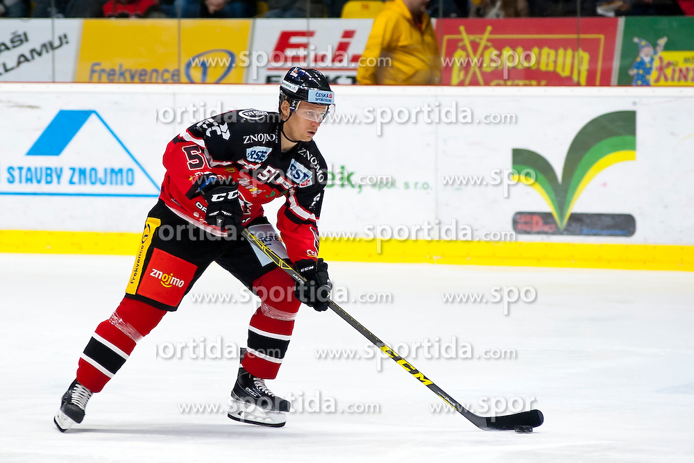 04.10.2015, Ice Rink, Znojmo, CZE, EBEL, HC Orli Znojmo vs HDD TELEMACH Olimpija Ljubljana, 8. Runde, im Bild Jan Seda (HC Orli Znojmo) // during the Erste Bank Icehockey League 8th round match between HC Orli Znojmo and Moser Medical Graz 99ers at the Ice Rink in Znojmo, Czech Republic on 2015/10/04. EXPA Pictures © 2015, PhotoCredit: EXPA/ Rostislav Pfeffer