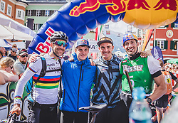 08.09.2018, Lienz, AUT, 31. Red Bull Dolomitenmann 2018, im Bild 3. Platz, Lakata Alban (AUT, Red Bull), Anton Palzer (GER, Red Bull), Rifesser Lukas (AUT, Red Bull), Hudetz Harald (AUT, Red Bull) // 3rd placed Lakata Alban (AUT, Red Bull), Anton Palzer (GER, Red Bull), Rifesser Lukas (AUT, Red Bull), Hudetz Harald (AUT, Red Bull) during the 31 th Red Bull Dolomitenmann. Lienz, Austria on 2018/09/08, EXPA Pictures © 2018, PhotoCredit: EXPA/ JFK