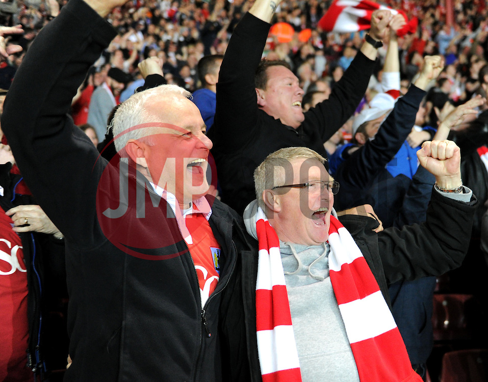 Bristol City supporters celebrate Joe Bryan's goal against Swindon Town - Photo mandatory by-line: Paul Knight/JMP - Mobile: 07966 386802 - 07/04/2015 - SPORT - Football - Bristol - Ashton Gate Stadium - Bristol City v Swindon Town - Sky Bet League One