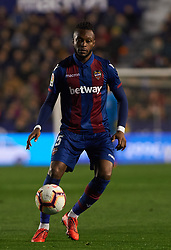 February 24, 2019 - Valencia, Valencia, Spain - Cheick Doukoure of Levante UD during the La Liga match between Levante and Real Madrid at Estadio Ciutat de Valencia on February 24, 2019 in Valencia, Spain. (Credit Image: © AFP7 via ZUMA Wire)