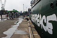 the Greenpeace ship the Rainbow Warrior is touring South Korea to build public awareness to end nuclear energy expansion and promote safe, clean renewable energy. In the past, Greenpeace East Asia has already helped secure a commitment from Naver, the Korean internet search giant and the parent company of social media platform Line, to power its data center in South Korea with 100% renewable energy.