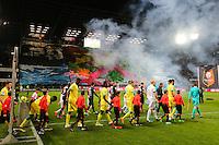 Supporters Rennes - Illustration Entree des Joueurs - 21.03.2015 - Rennes / Nantes - 30eme journee de Ligue 1 -<br />Photo : Vincent Michel / Icon Sport