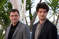 Actors Louis Garrel and Alex Brendemühl<br /> at the Mal De Pierres (From the Land of the Moon) film photo call at the 69th Cannes Film Festival Sunday 15th May 2016, Cannes, France. Photography: Doreen Kennedy