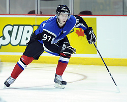 Stanislav Galiev of the Saint John Sea Dogs participates in Next Testing at the Home Hardware CHL Top Prospects Game in Windsor, ON on Tuesday. Photo by Aaron Bell/CHL