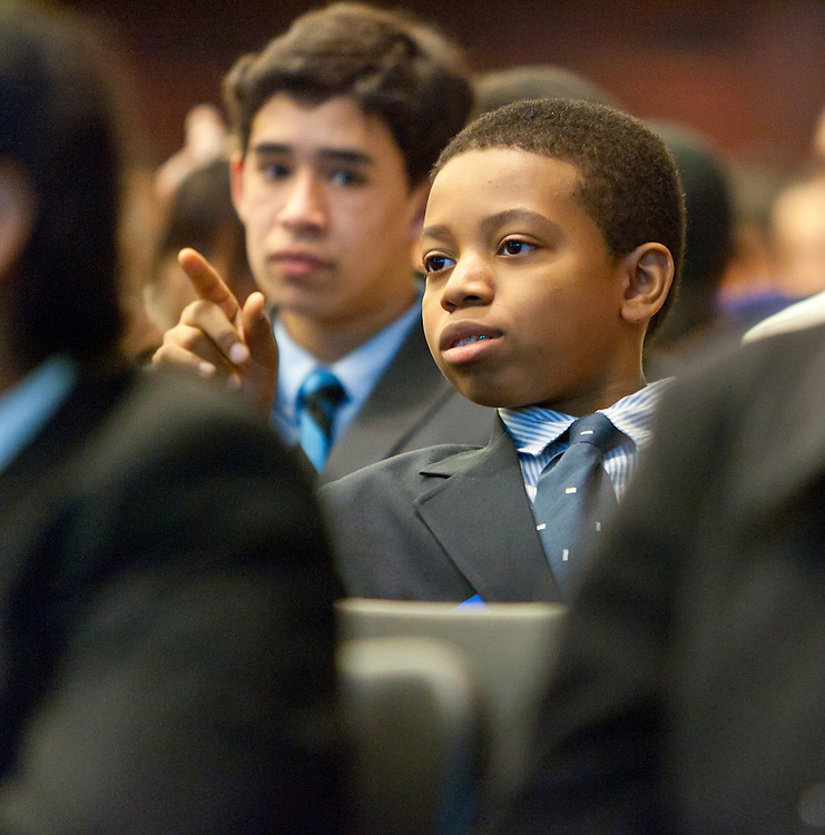 SEO Scholars Program Orientation for the Class of 2014 at Credit Suisse on January 29, 2011. Students and their parents receive an overview of the program expectations from the students, parents and SEO.