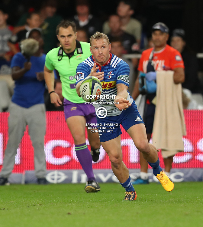 DURBAN, SOUTH AFRICA - MAY 27: Jano Vermaak of the DHL Stormers during the Super Rugby match between Cell C Sharks and DHL Stormers at Growthpoint Kings Park on May 27, 2017 in Durban, South Africa. (Photo by Steve Haag/Gallo Images)