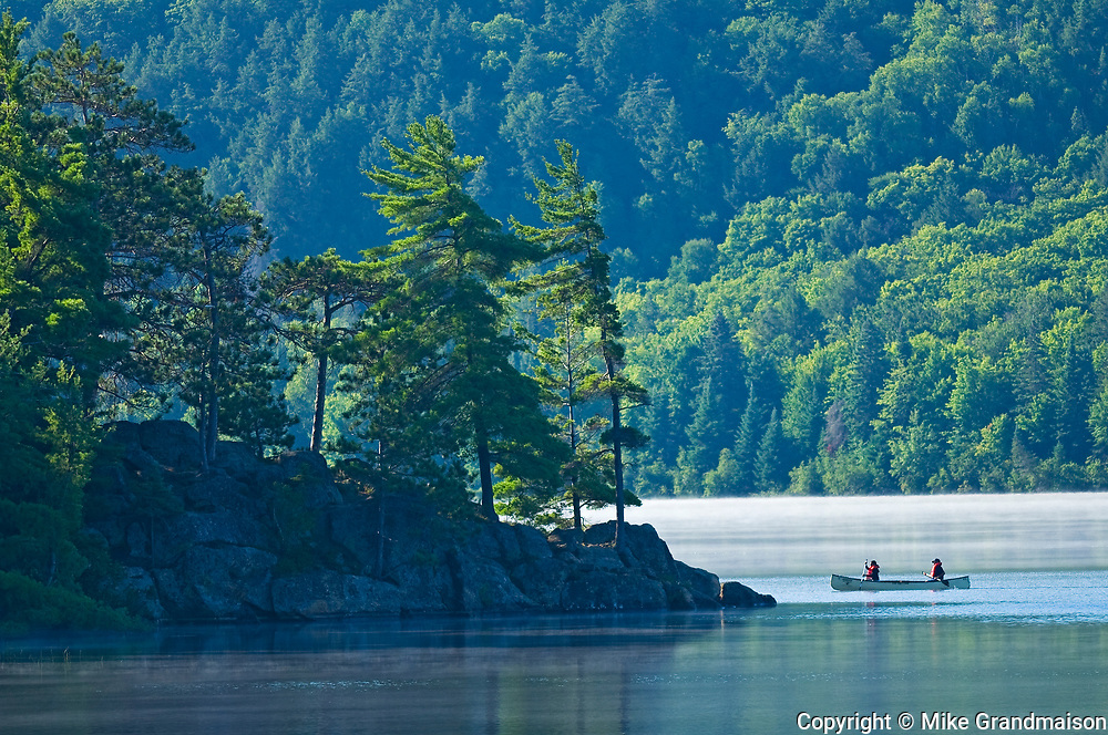 Canoeing on Lake of Two Rivers<br />Algonquin Provincial Park<br />Ontario<br />Canada