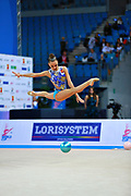 Dina Averina is the 2017 World All-around Champion. She was born in Russia and has a twin sister called Arina is also herself a great gymnast.