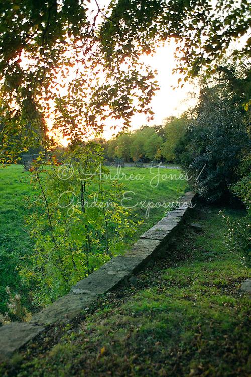 Bridgeman's Ha-ha. Stowe Landscape Gardens, Buckinghamshire, England. National Trust property