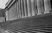 """Steps of the Post Office in Midtown Manhattan near 34th St...Part of long-term (2005-2008) story """"I See A Darkness"""". New York, NY."""