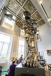 Vulcan sculpture by Eduardo Paolozzi on display at Scottish National Gallery of Modern Art in Edinburgh, Scotland, United Kingdom