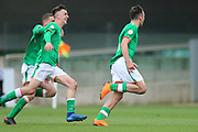 Team mates chase Troy Parrot of Republic of Ireland (10) after scoring during the UEFA European Under 17 Championship 2018 match between Bosnia and Republic of Ireland at Stadion Bilino Polje, Zenica, Bosnia and Herzegovina on 11 May 2018. Picture by Mick Haynes.