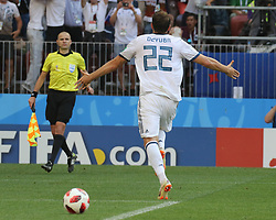 July 1, 2018 - Moscow, Russia - July 01, 2018, Russia, Moscow, FIFA World Cup 2018, the playoff round. Football match Spain - Russia at the stadium Luzhniki. Player of the national team; Artem Dzyuba; Artem Dub. (Credit Image: © Russian Look via ZUMA Wire)