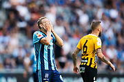 STOCKHOLM, SWEDEN - JULY 22: Jonathan Ring of Djurgardens IF dejected during the Allsvenskan match between Djurgardens IF and BK Hacken at Tele2 Arena on July 22, 2018 in Stockholm, Sweden. Photo by Nils Petter Nilsson/Ombrello ***BETALBILD***