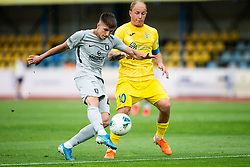 Jan Andrejasic of Olimpija vs Senijad Ibricic of Domzale during football match between NK Domzale and NK Olimpija in 29th Round of Prva liga Telekom Slovenije 2019/20, on June 21, 2020 in Sports park, Domzale, Slovenia. Photo by Vid Ponikvar / Sportida
