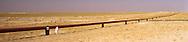 Pipeline on the border between Kuwait and Saudi Arabia.