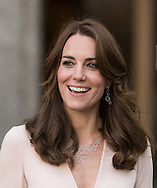 Catherine, Duchess of Cambridge visits the 'Vogue 100: A Century Of Style' exhibition at National Portrait Gallery in London. The Duchess appears on the cover of the centenary issue in June 2016.