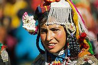 Inde, Province du Jammu Cachemire,  Ladakh, Vallée de Dah Hanu, Femme d'ethnie Darde // India, Jammu and Kashmir province, Ladakh, Dah Hanu valley, Woman from Darde ethnic group