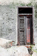 Weathered window in San Miguel de los Banos, Matanzas, Cuba.