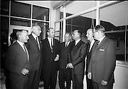 21/06/1965<br /> 06/21/1965<br /> 21 June 1965<br /> Cutting first sod for the Irish-Swiss Institute of Horology, Blanchardstown, Dublin. The institute, that was to hold courses in watch repairing,was due to an agreement between the Department of Education and the Swiss Watch Industry. Photographed at the ceremony were (l-r): Mr. Michail O'Flanagan, Chairman of the Institute; Mr. Julien Rossat, Swiss Ambassador to Ireland; Mr. george Colley, Minister for Education; Mr. Andre Chappuis; Mr. Max Lohner and Mr. P.A. Tschudin, delegates of the Swiss Watch Industry and Mr. Marc E. Golay, Director of the Institute.