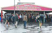 03/08/2012. 03/08/2012. The Rain returned to the Friday evening meeting of the Galway Races. Photo:Andrew Downes