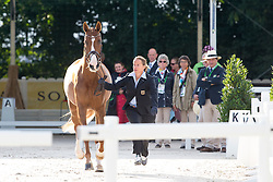 Isabell Werth, (GER), Bella Rose 2 - Horse Inspection Dressage - Alltech FEI World Equestrian Games™ 2014 - Normandy, France.<br /> © Hippo Foto Team - Leanjo de Koster<br /> 25/06/14