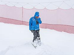 28.02.2020, Hannes Trinkl Weltcupstrecke, Hinterstoder, AUT, FIS Weltcup Ski Alpin, Alpine Kombination, Herren, im Bild die Alpine Kombination wurde aufgrund des starken Schneefalls abgesagt, Hannes Trinkl (FIS Renndirektor Weltcup Ski Alpin Herren) // the Alpine combination was canceled due to heavy snowfall, Hannes Trinkl Race Director World Cup Men Speed Events of FIS during the men's Alpine combined of FIS ski alpine world cup at the Hannes Trinkl Weltcupstrecke in Hinterstoder, Austria on 2020/02/28. EXPA Pictures © 2020, PhotoCredit: EXPA/ Johann Groder