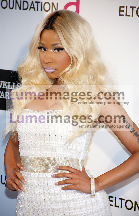 Nicki Minaj at the 21st Annual Elton John AIDS Foundation Academy Awards Viewing Party held at the Pacific Design Center in West Hollywood on February 24, 2013 in Los Angeles, California. Credit: Lumeimages.com