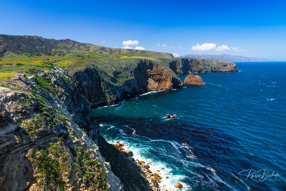 The dramatic view from Cavern Point, Santa Cruz Island, Channel Islands National Park, California USA