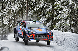 February 15, 2018 - Suede - Hayden Paddon (NZL) Ð Sebastian Marshall (GBR) - Hyundai i20 WRC (Credit Image: © Panoramic via ZUMA Press)