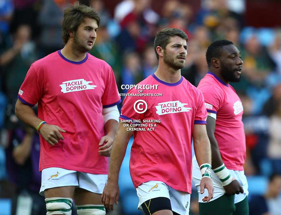BIRMINGHAM, ENGLAND - SEPTEMBER 26: Willie le Roux of South Africa during the Rugby World Cup 2015 Pool B match between South Africa and Samoa at Villa Park on September 26, 2015 in Birmingham, England. (Photo by Steve Haag/Gallo Images)