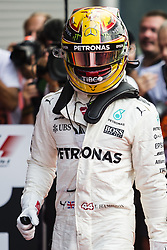 August 27, 2017 - Spa, Belgium - 44 HAMILTON Lewis from Great Britain of team Mercedes GP celebrating his victory during the Formula One Belgian Grand Prix at Circuit de Spa-Francorchamps on August 27, 2017 in Spa, Belgium. (Credit Image: © Xavier Bonilla/NurPhoto via ZUMA Press)