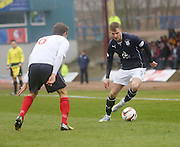 Willie Dyer runs at Will Vaulks - Dundee  v Falkirk - SPFL Championship at Dens Park<br /> <br />  - &copy; David Young - www.davidyoungphoto.co.uk - email: davidyoungphoto@gmail.com