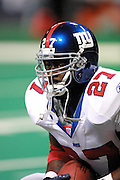 New York Giants running back Ron Dayne (27) warming up before a 15 to 14 loss to the St. Louis Rams on 10/14/2001..©Wesley Hitt/NFL Photos