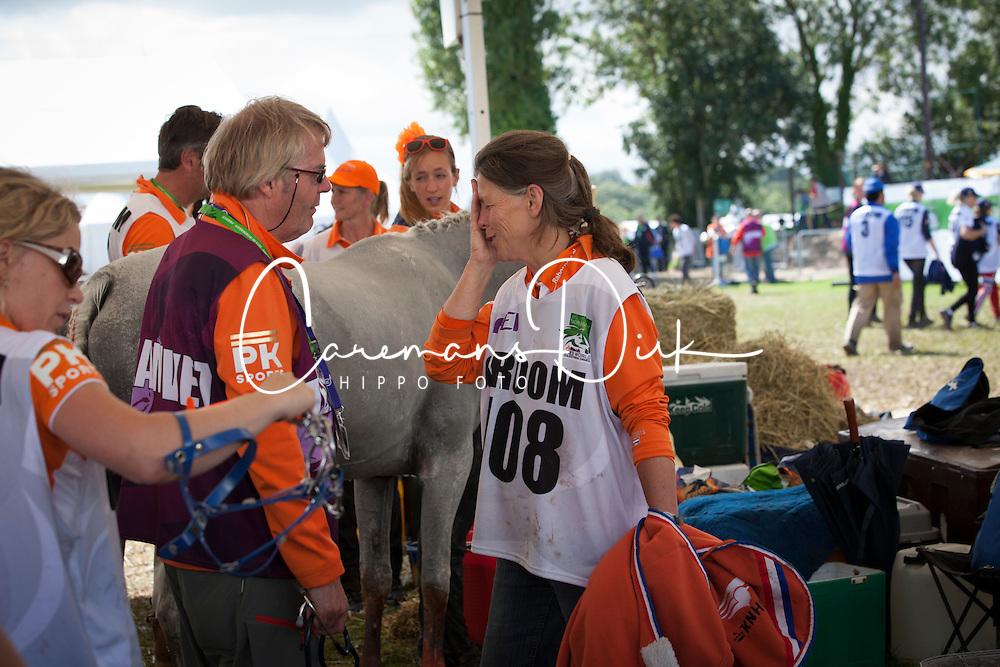 Groom 108<br /> Endurance - Alltech FEI World Equestrian Games™ 2014 - Normandy, France.<br /> © Hippo Foto Team - Jantien Van Zon