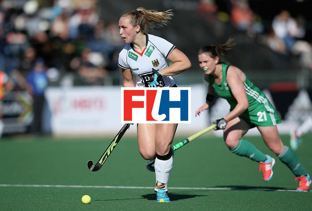 JOHANNESBURG, SOUTH AFRICA - JULY 10:  Nike Lorenz of Germany in action during day 2 of the FIH Hockey World League Semi Finals Pool A match between Germany and Ireland at Wits University on July 10, 2017 in Johannesburg, South Africa.  (Photo by Jan Kruger/Getty Images for FIH)