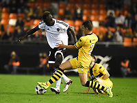Valencia's Zahibo and Barakaldo's Revert during Spain King Cup match. December 16, 2015. (ALTERPHOTOS/Javier Comos)