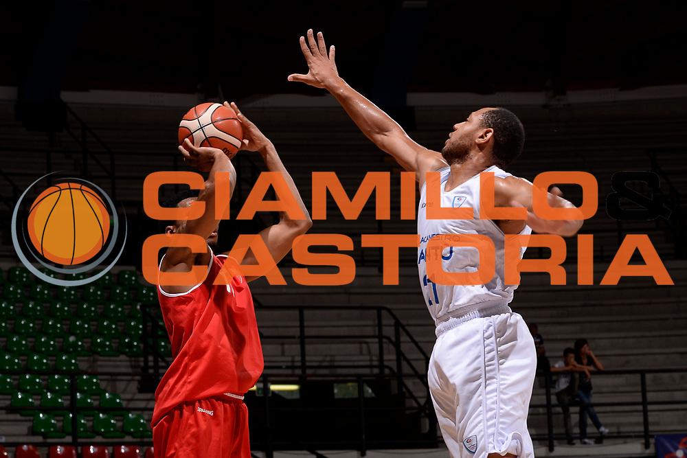 Stanley Okoye<br /> Desio, 10/09/2017<br /> Trofeo Lombardia<br /> Precampionato Lega Basket Serie A<br /> Openjobmetis Varese - Pallacanestro Cantu'<br /> Foto: M.Ozbot /Ciamillo Castoria
